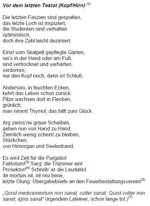 Graf von rotz gedicht