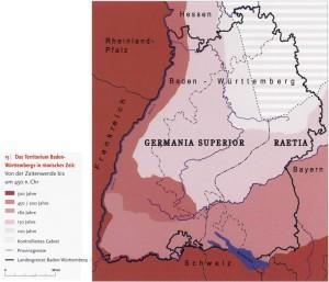 Römische Provinzen in Baden-Württemberg