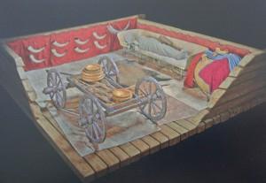 © Landesmuseum Württemberg, Stuttgart: 3D-Rekonstruktion des Prunkgrabes von Hochdorf, 2016.