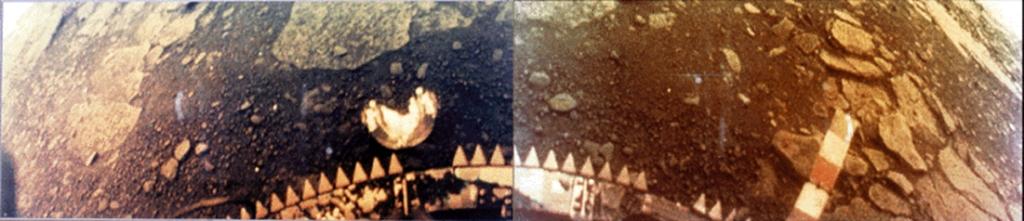 Venera 13 machte insgesamt 14 Bilder von seinem Landeort bevor er verstummte.