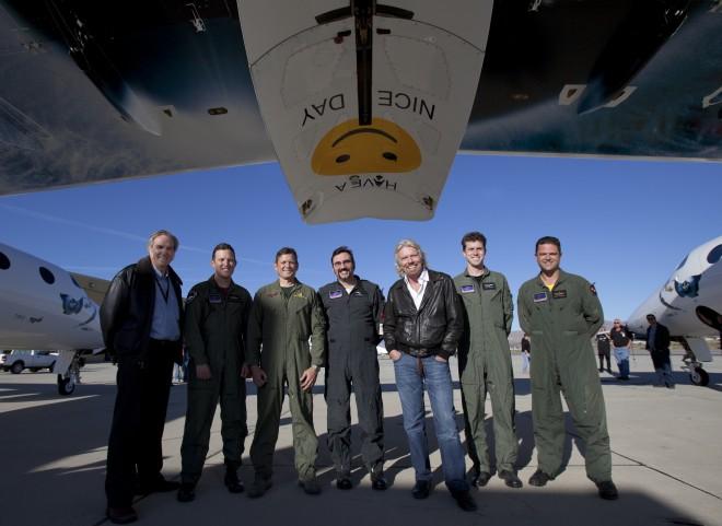Dieses Bild wurde nach dem ersten Gleitflug von SS2 im Jahre 2010 aufgenommen. Diesen Flug absolvierten ebenfalls Pete Siebold und Mark Alsbury.