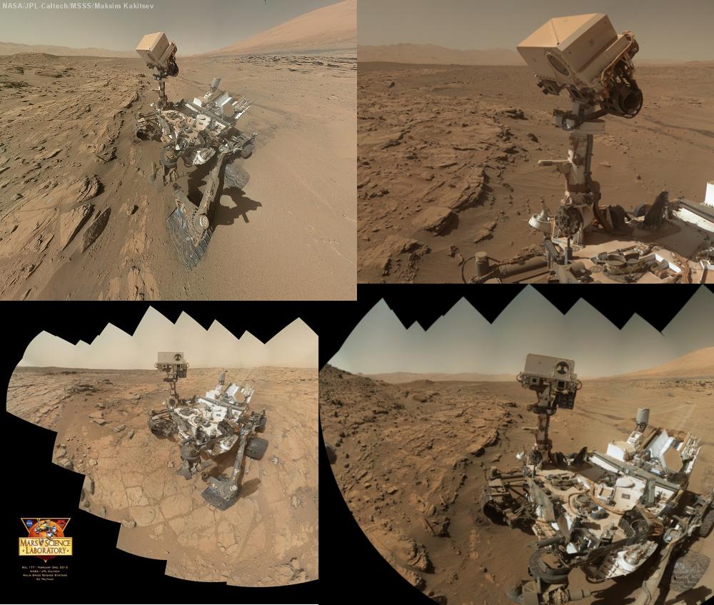 Curiosity: Wenn der Rover sich aus Dutzenden Einzelbildern selbst ablichtet, ist viel Feinarbeit nötig