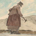 Henry Thomas De la Beche (1796-1855): Geologin Mary Anning sucht Fossilien (gemeinfrei)