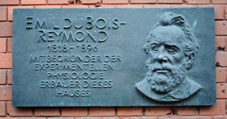 Emil du Bois-Reymond-Gedenktafel am Physiologischen Instituts in der Berliner Dorotheenstraße