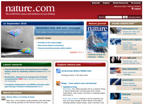 Nature Website