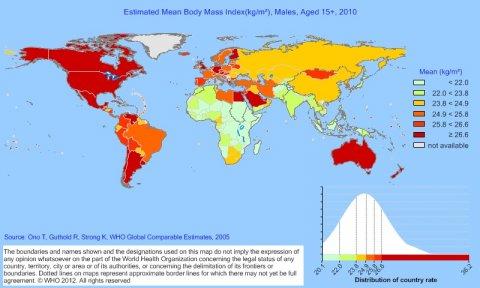 BMI Males 2010 WHO