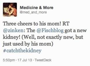 Three cheers to @Fischblog's mom!