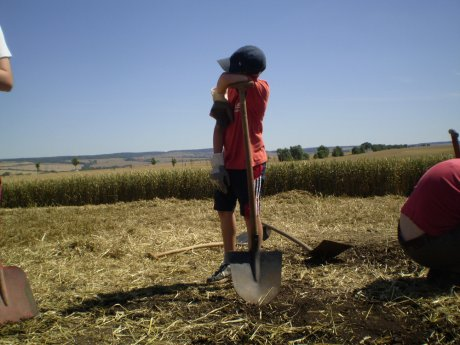 Archäologie kann ganz schön anstrengend sein!
