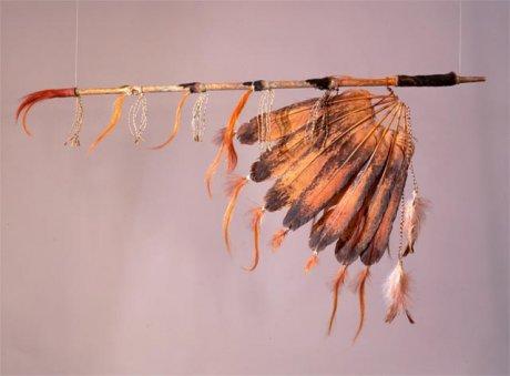 Friedenspfeife amerikanischer Ureinwohner, Library of Congress, Washington & Wikipedia Commons