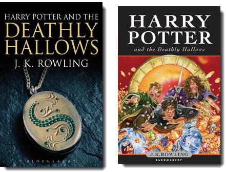 Vergleich Kinder- und Erwachsenencover Harry Potter and the Deadly Hallows