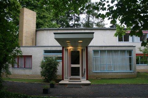 Eingang Haus Schminke in Löbau, Architekt Hans Scharoun