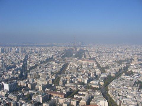 Paris von der Tour Montparnasse aus gesehen
