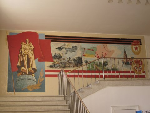 Dresden Hellerau Festspielhaus innen sowjetischer Siegeszug