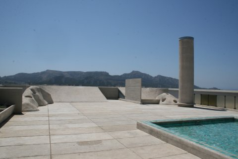 Le Corbusier Marseille Unité d'habitation Dach
