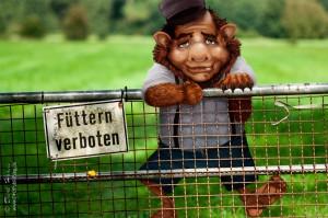 Bitte den Troll nicht füttern - Don't feed the troll
