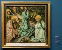 Christus in Gethsemane - sehr gutes Beispiel für ein durch irgendeinen Besitzer miserabel zugeschnitenes Bild, das in einen vorhandenen Rahmen passen sollte