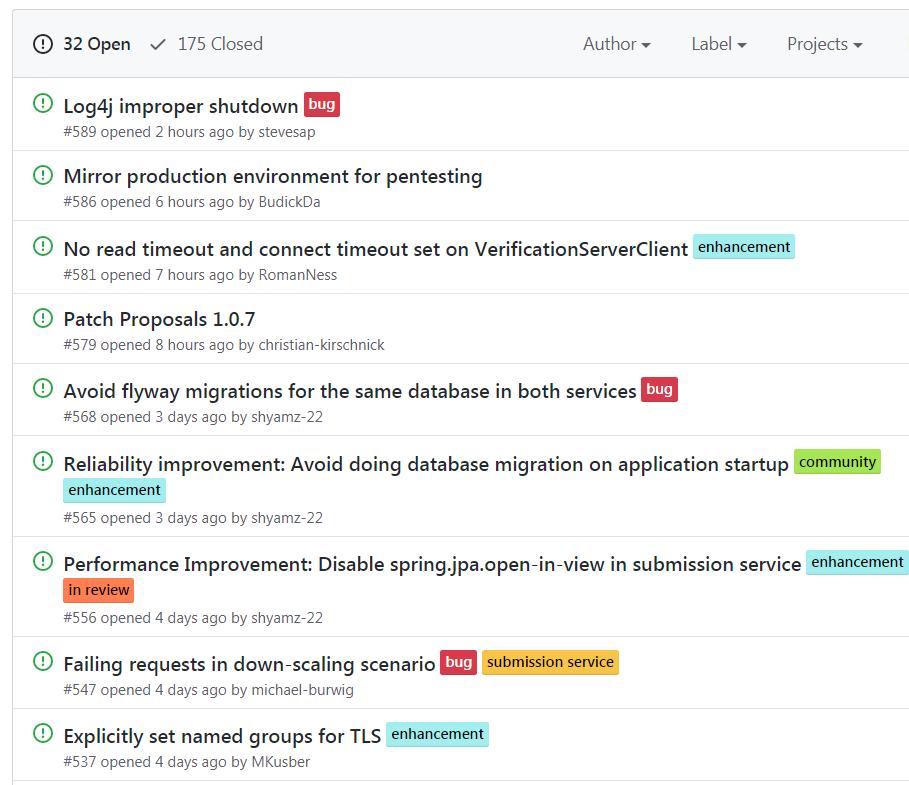 GitHub-Issues der Warn-App