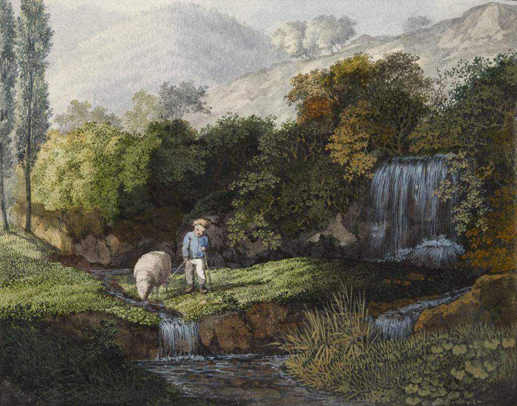 Carl Philipp Fohr, Die Wasserfälle am Steinwäldchen,