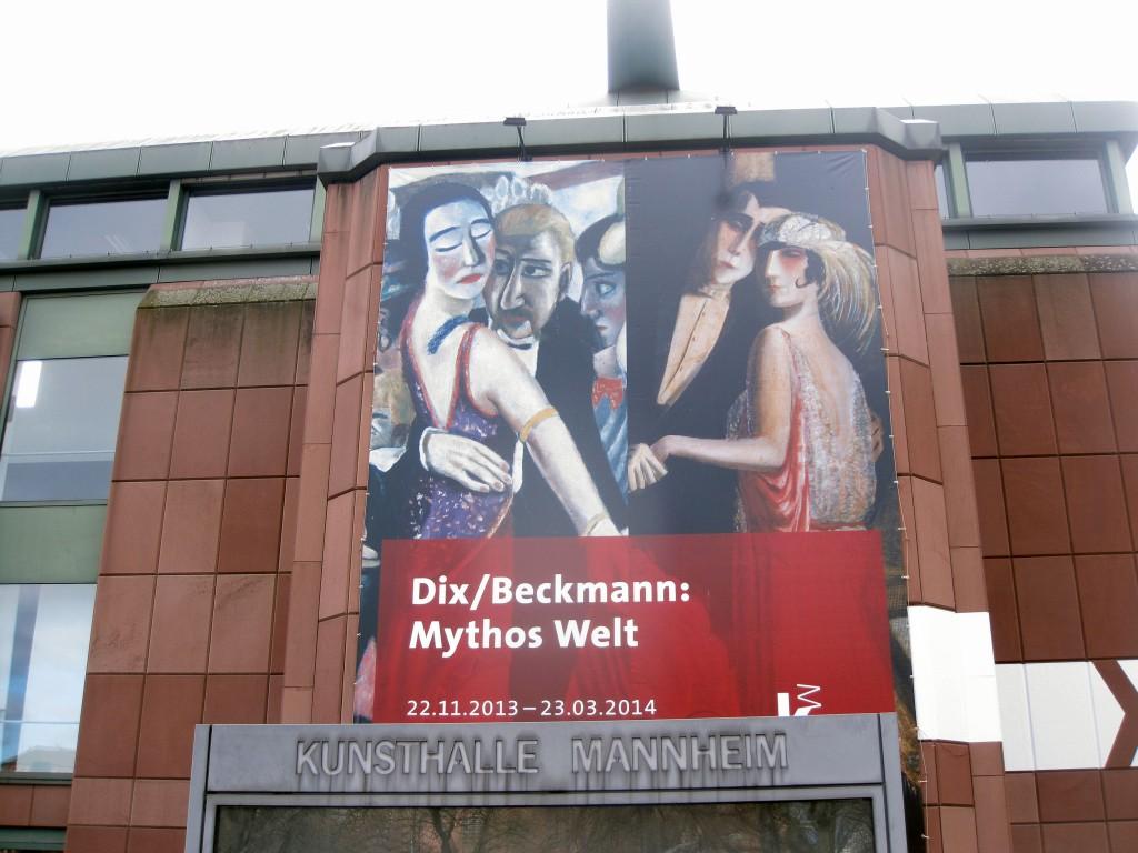 """Vor fast 90 Jahren waren sie schon einmal Stars einer Ausstellung in Mannheim: Bilder von Max Beckmann und Otto Dix waren 1925 in der programmatischen Schau """"Neue Sachlichkeit"""" zu sehen, die von Kunsthallendirektor G. F. Hartlaub veranstaltet worden war. Persönlich sind sich beide Künstler aber angeblich nie begegnet."""