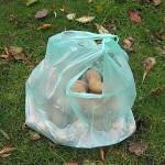 Dünne Plastiktueten sind zweifellos praktisch - hier mit Kartoffeln