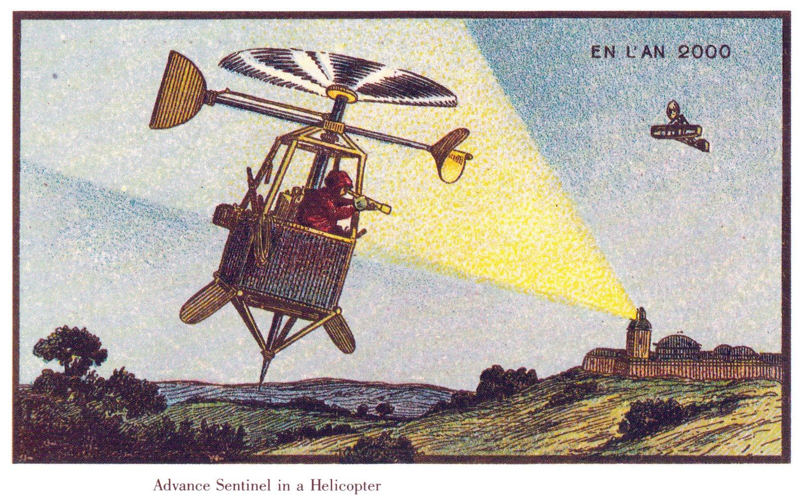 Frankreich im Jahr 2000 – imaginiert von dem französischen Künstler Villemard um 1910 (gemeinfrei, via Wikimedia Commons)