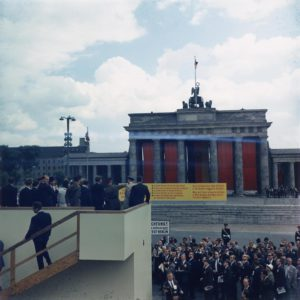 Kennedy am Brandenburger Tor