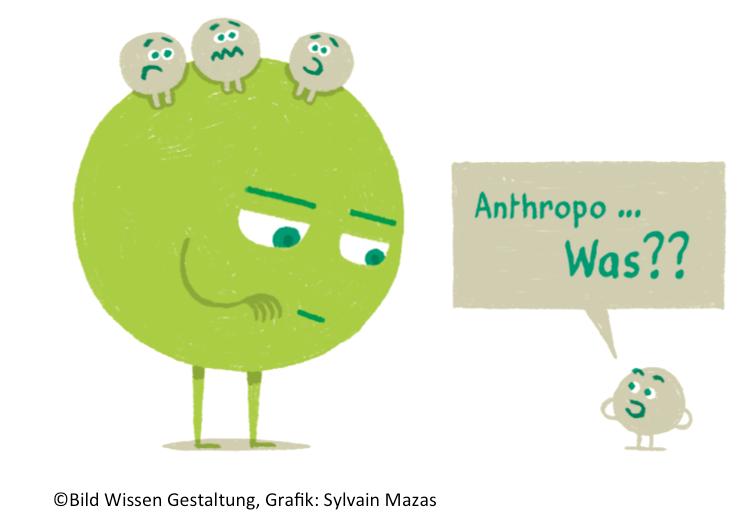 """Der Phosphorcharakter mit seinen vier Sauerstoffatomen, die ihn zum Phosphat machen. Aus """"Die Anthropozän-Küche"""""""