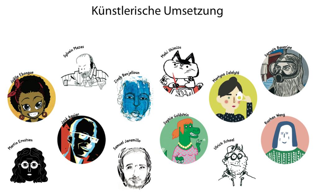 """Unsere Künstlerinnen und Künstler der """"Anthropozän-Küche"""""""
