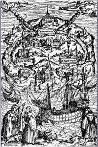 Utopia, Ambrosii Holbenii imago ligno incisa, 1518