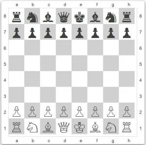 Die Grundstellung beim Schach