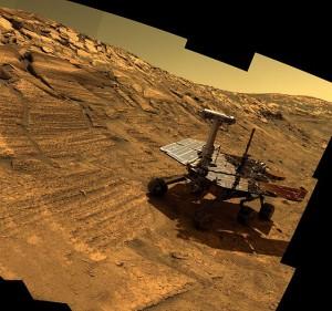 Statt Menschen auf dem Mars: Oppy. Die Technik kommt ganz gut ohne uns aus.