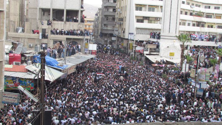 Friedliche Demonstration in Damaskus. Bild: Syriana2011, CC BY-SA 2.0
