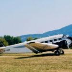 HB-HOS, das Schwesterflugzeug der abgestürzten HB-HOT, am 18.8.2018 (also 14 Tage nach dem Unglück) bei den Flugtagen in Bensheim, Hessen