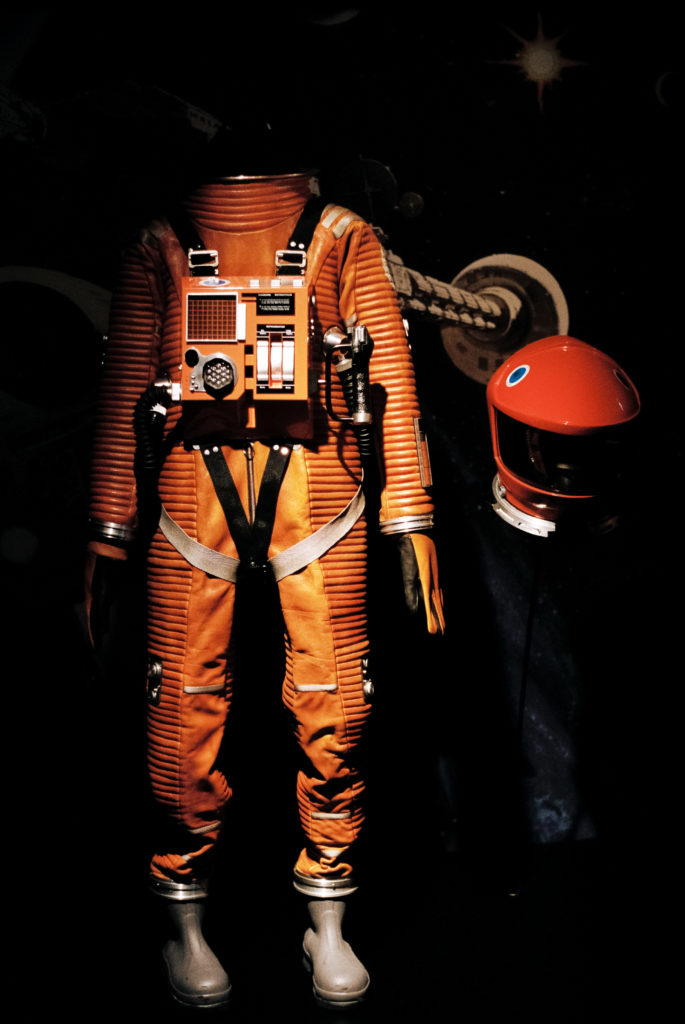 Kubrick's 2001: 50 Years A Space Odyssey. Raumanzug und Helm. Deutsches Filmmuseum, Frankfurt am Main