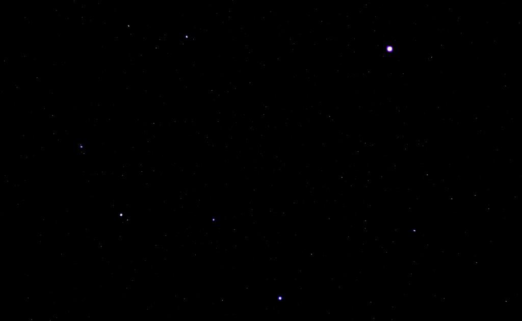 Jupiter und das Sternbild Löwe, 8. Februar 2015, 21:07, Canon EOS 600D, Leica Summicron 50/2, ISO 3200, f/2, 2 Sekunden Belichtungszeit