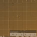 Enge Konjunktion von Merkur und Mars am Abend des 18.6.2019, hier simuliert für Darmstadt um 22:30 MESZ