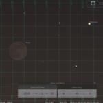 Konjunktion des abnehmenden Mondes mit Merkur am Morgen des 25.11.2019, hier simuliert für Darmstadt um 6:45 MEZ
