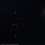 Der Westhimmel zur selben Zeit bei klarem Himmel ohne Lichtverschmutzung, simuliert für Darmstadt am 19.3.2021 um 21:00 MEZ