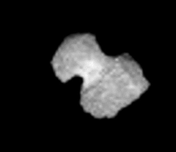 Rosetta: NavCam-Bild vom 30.7.2014, Nachbearbeitung durch mich