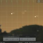Konjunktion des zunehmenden Mondes mit Venus und Jupiter am Abend des 28.11.2019, hier simuliert für Darmstadt um 17:00 MEZ