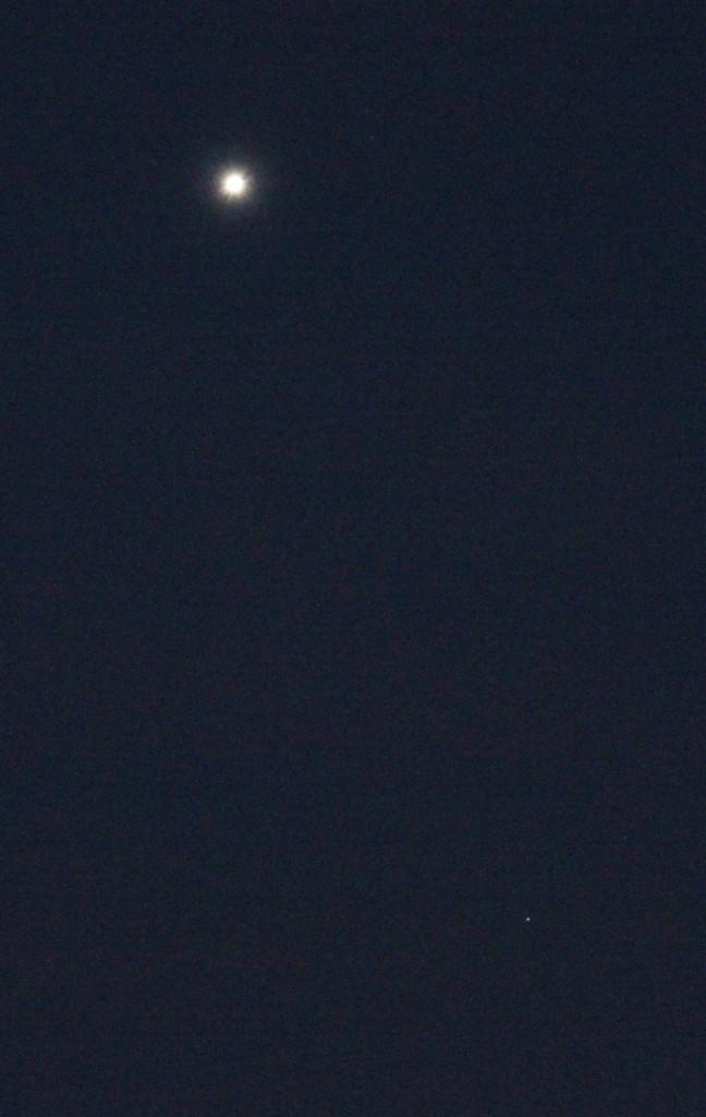 Venus und Uranus am 5.3.2015, 19:15 MEZ, Canon EOS 600D, TS-Optics 420/65 APO65Q, ISO 6400, 1/3 Sekunde