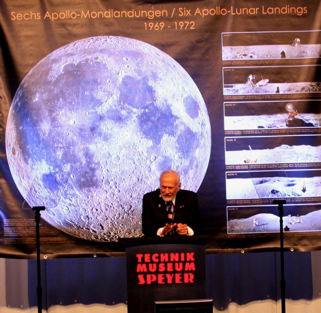 Buzz Aldrin im Technikmuseum Speyer am 4.10.2014