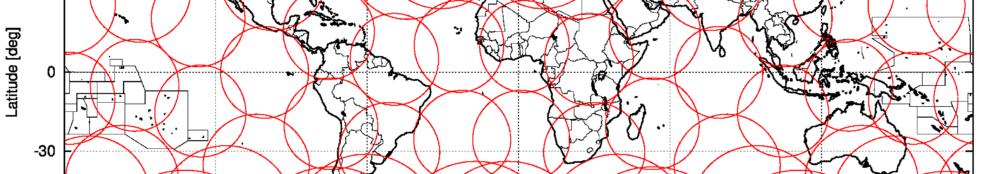 Generisches Abdeckungsprofil einer Walker-Satellitenkonstellation, hier für 60 Satelliten mit einer Bahnhöhe von 700 km und einer inklination von 55 Grad auf 15 Bahnebenen, Quelle: Michael Khan