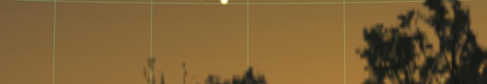 Merkur und Venus in der Abenddämmerung des 22.5.2020, hier simuliert für Darmstadt um 21:42 MESZ