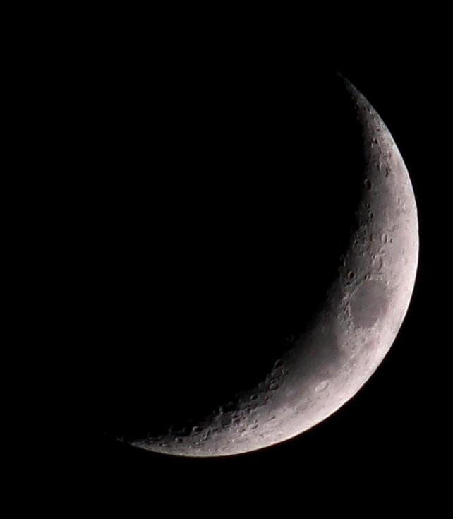 Mond am 3.5.2014, Canon EOS-600D mit Telemegor 300 f4.5, ISO 400, Blende 4.5, 1/160 s