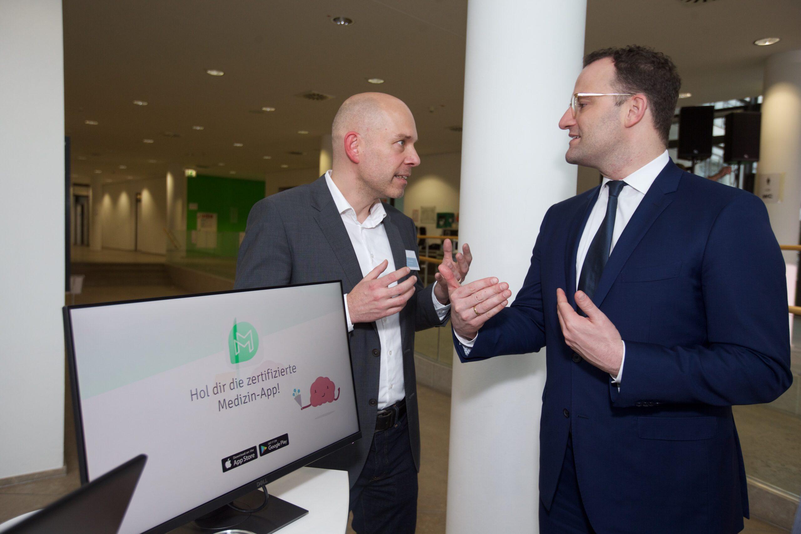 Jens Spahn und Markus Dahlem sprechen über Digital Health