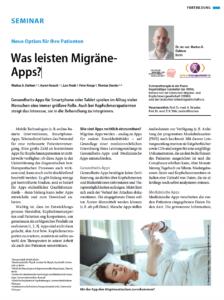Fachartikel über Migräne-Apps – Titelseite