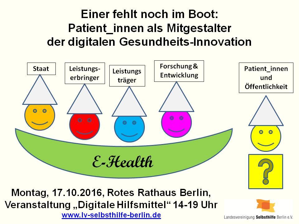 Gesundheits-Apps: Einer fehlt noch im Boot. Patienten als Mitgestalter der digitalen Gesundheits-Innovation