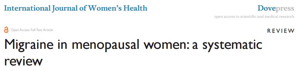 menopauseMigraine