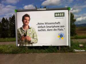 BASE-Werbeplakat, November 2011